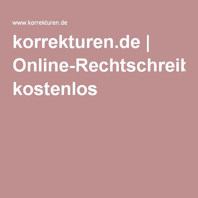 korrekturen.de | Online-Rechtschreibprüfung kostenlos