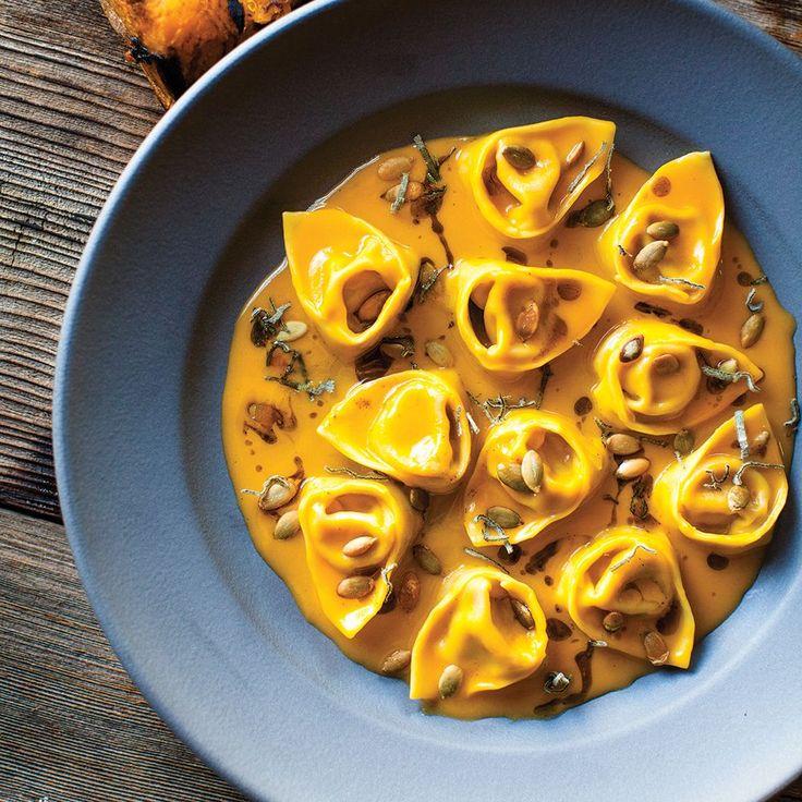 """Pumpkin Tortellini with Sage & Pumpkin Seeds"" | Williams-Sonoma.com #fall"