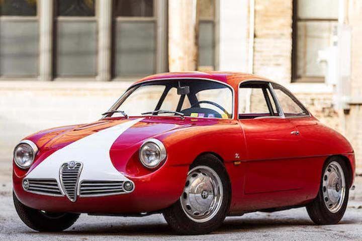 A Parigi all'asta l'Alfa Romeo Giulietta SZ berlinette coda ronda
