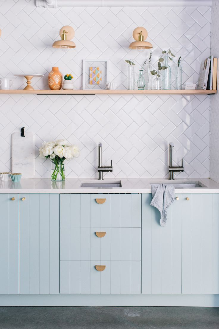 The Easiest Way to Make IKEA Cabinets Look High-End | Blue ...