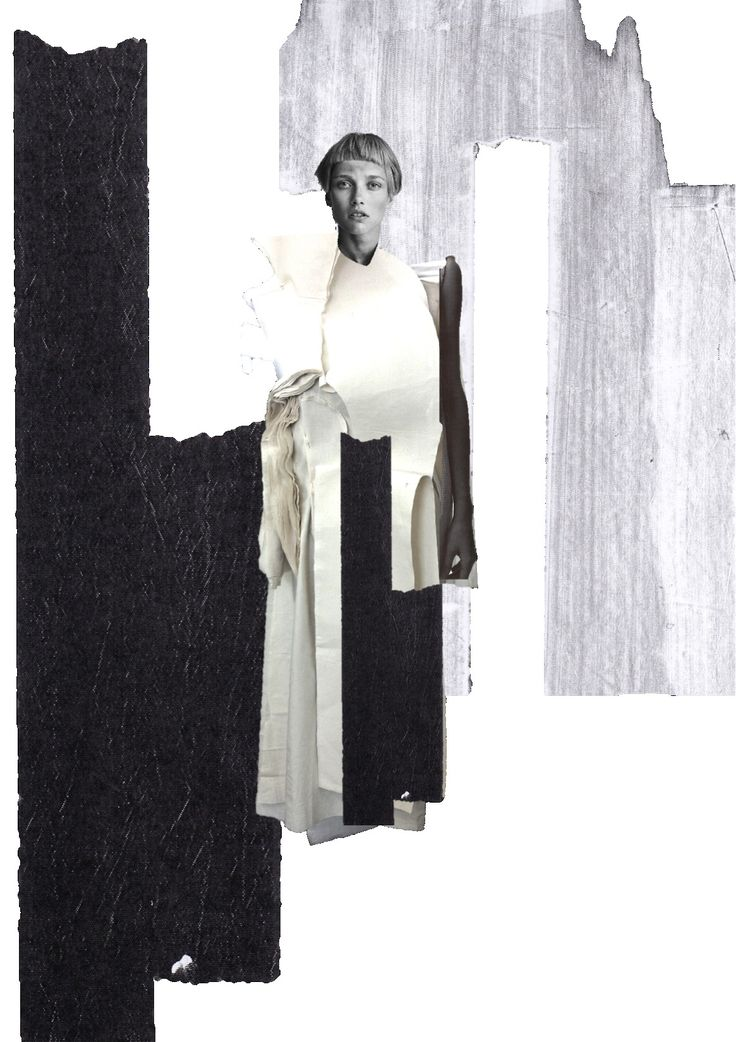 Fashion Portfolio layout; fashion collage; fashion sketchbook // Connie Blackaller