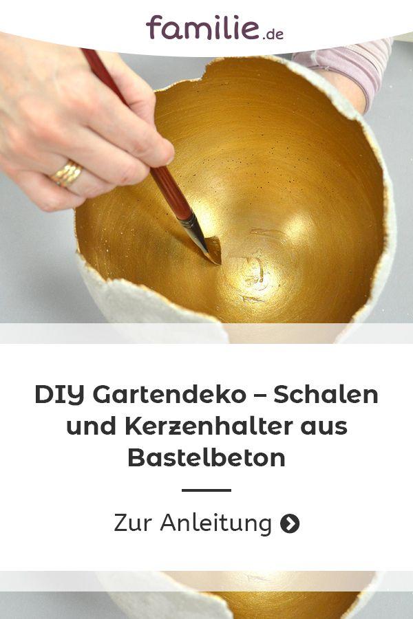 Diy Gartendeko Schalen Und Kerzenhalter Aus Bastelbeton Diy