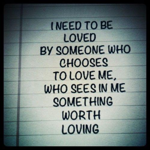and makes me feel like I am enough.....