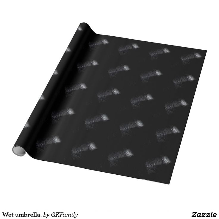 Wet umbrella. wrapping paper