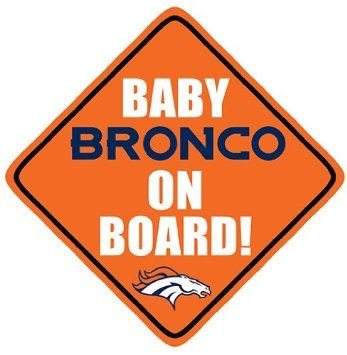 Amazon.com: Denver Broncos Baby on Board. Car Decal.: Everything Else