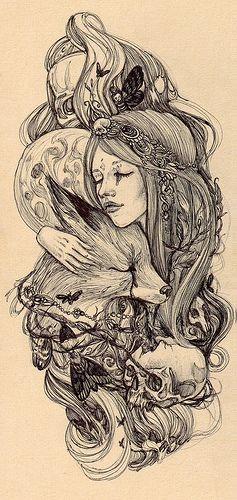 Moon+fox+girl ~possible tattoo idea?