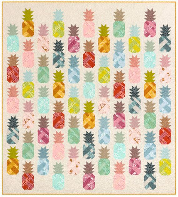 Quilt Kit PRE ORDER Pineapple Farm by by MargosQuiltsNFabric