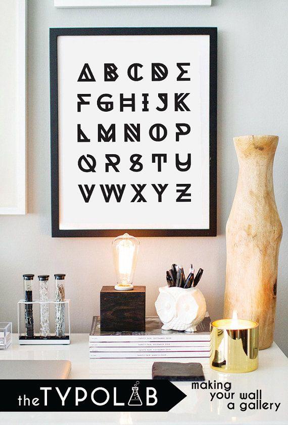 Alphabet ABC Nursery / typography print typography by theTypolab