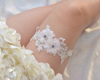 off-white bridal garter wedding garter bride garter by annabrides