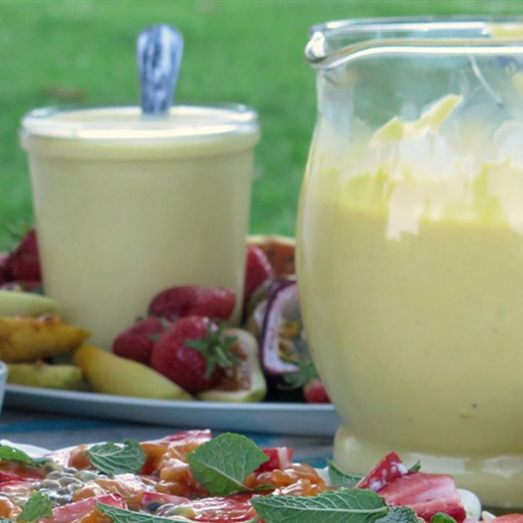 Try this Vanilla Custard  recipe by Chef Paul West . This recipe is from the show River Cottage Australia.