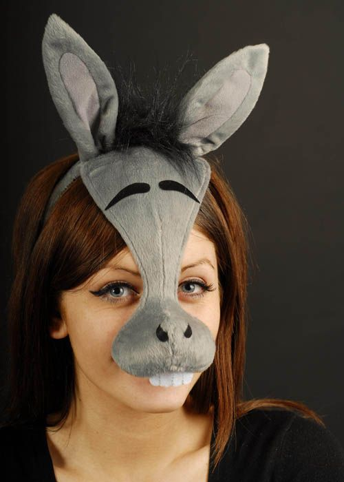 Donkey Mask On Headband