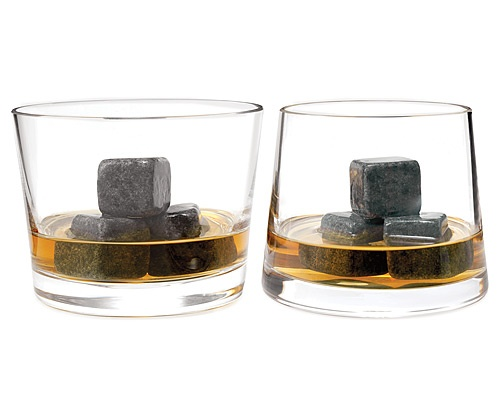 Whiskey Stones - natural soapstone to chill drinks. Perfect for the well stocked liquor cabinet friends.