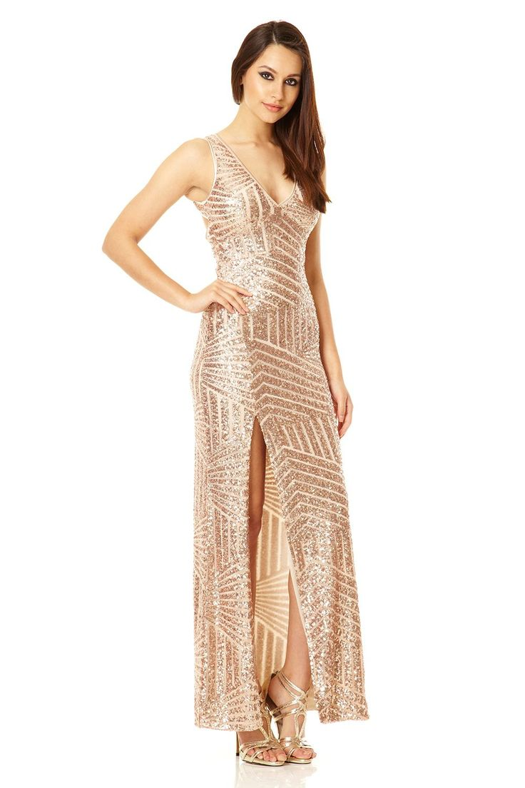 gold-sequin-zig-zag-maxi-dress-