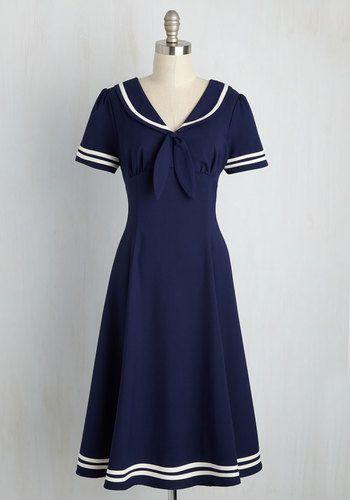 👚 Perfect vintage sailor dress. *heart*