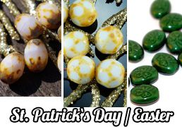 ✔ What's Hot Today: St. Patrick`s Day and Easter Czech Beads Collection https://czechbeadsexclusive.com/st-patricks-day-and-easter-czech-beads-collection/?utm_source=PN&utm_medium=czechbeads&utm_campaign=SNAP #CzechBeadsExclusive #czechbeads #glassbeads #bead #beaded #beading #beadedjewelry #handmade