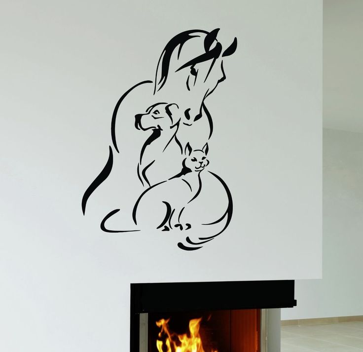 Wall Decal Horse Dog Cat Pet Animal shelter Veterinary Clinic Vinyl Mural ig2952 #Wallstickers4you