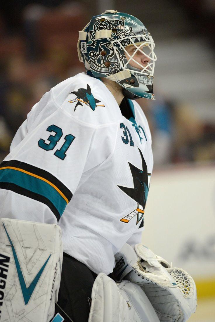 San Jose Sharks goaltender Antti Niemi (Sept. 28, 2013).