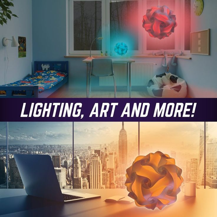 """12"""" Geosphere Puzzle Lamp Kit - 30pc White - The Granville Island Toy Company"""
