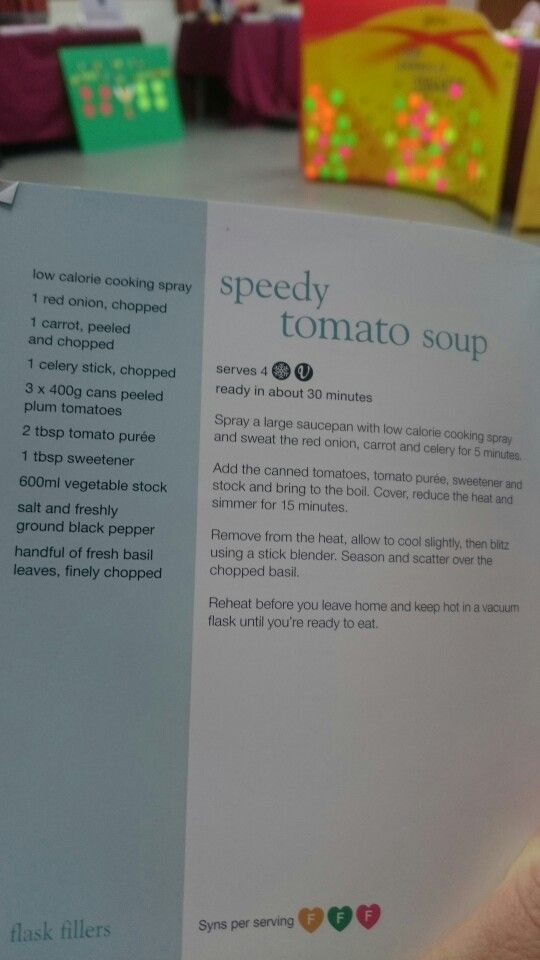 Speedy tomato soup
