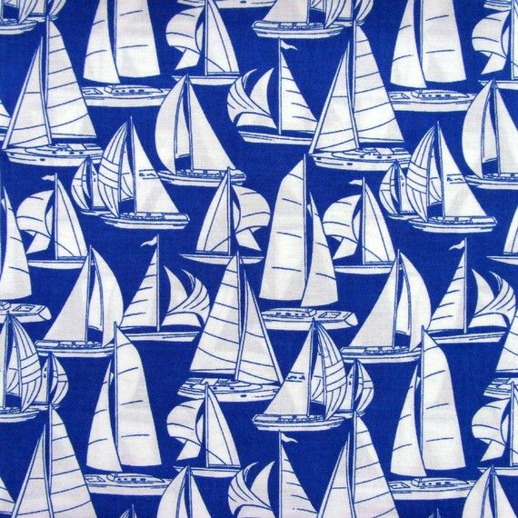 I'd love to use this sail boat material!