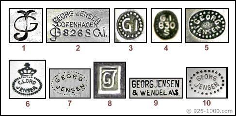 Georg Jensen Silver Marks Encyclopedia Of Silver Marks