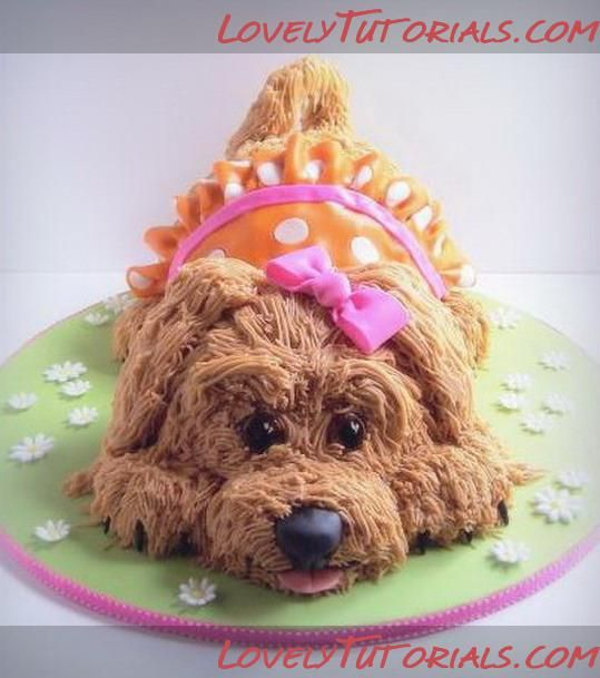 Puppy dog cake tutorial