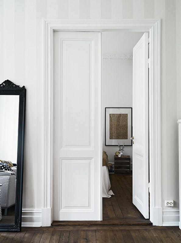 via Coco Lapine  i want a home full of trim and wainscoating and all of it painted white very french