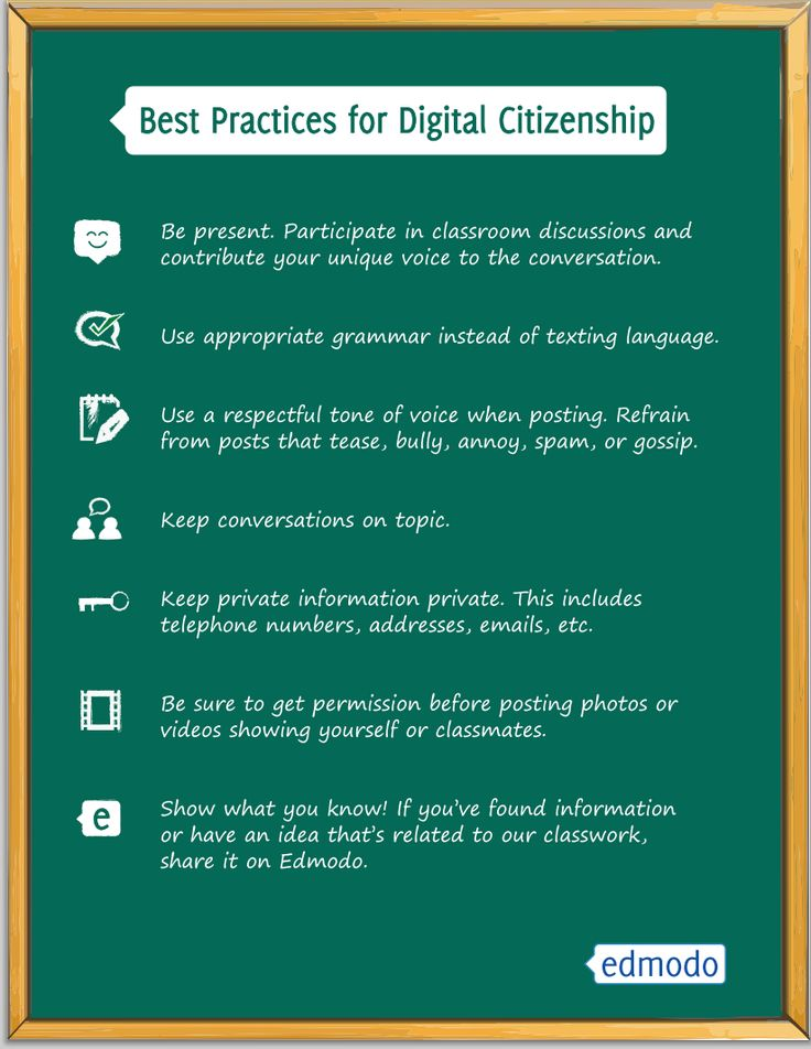 A Good Digital Citizenship Poster from Edmodo ~ Educational Technology and Mobile Learning