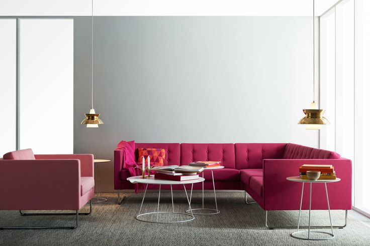 Swedese - Madison sofa and easy chair by Leila Atlassi, Breeze table by Monica Förster