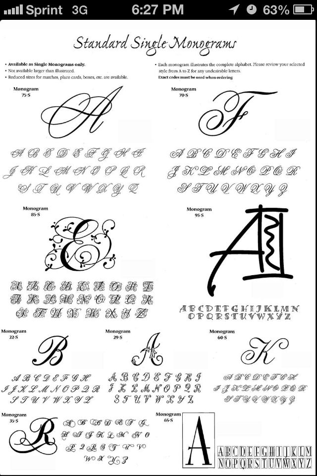 Monogram fonts for tattoo