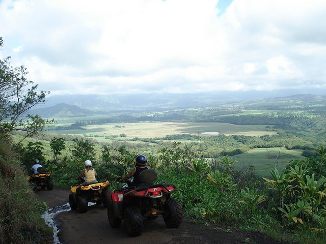 ATV'ing in Kauai--one of THE most fun and exhilarating things I've ever done.  Too bad I crashed my ATV before the tour was over.