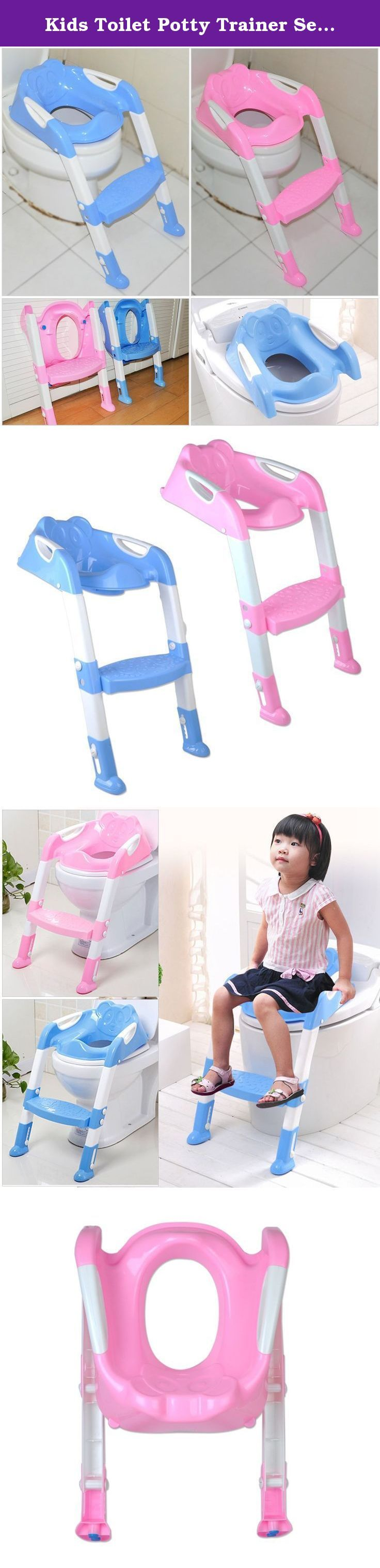 Kids Toilet Potty Trainer Seat Chair Toddler with Ladder Step up Training Stool-pink. Material:High quality of Polypropylene ;color:pink; Max Weight: 50kg ;Size:60x33cm Compatible: Fit for 6 months or older baby, less than 50kg Item included: Kid Toilet Training Chair x 1 Seat handles on either side for safety Seat attaches to the toilet seat 2 point height adjustable step with adjustable height feet Seat cushion and ladder feet cushion are designed with non-slip pad, effectively prevent…