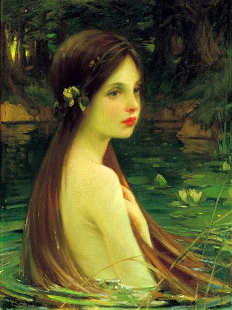 William Samuel Henry Llewellyn - Waterbaby, c. 1910, oil on canvas
