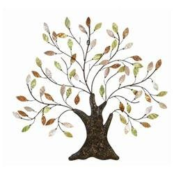 Cosmopolitian Metal Tree/Shell Leaves Wall D cor (00758647130740) QPV1002: Features: -Material: Rust free metal alloy.-Exhibits special liking for home decoration.-Designed for elite class decor enthusiasts.-Classic decoration that attracts everyone.-High in modern age fashion.-Gives a feel of complete wall de cor.-Beautifully sculptured by the experienced artists using metal alloy pipe structure.-Subject: Trees and nature.-Style: Contemporary.-Distressed: No.-Overall Height - Top to Bottom…