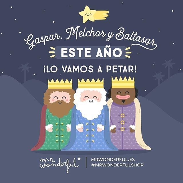 Que tengáis una feliz noche de Reyes y que os dejéis llevar por la magia y la ilusión de los más peques. #mrwonderfulshopCaspar, Melchior, Balthazar: this year you are going to be a star! Have a great Three Kings' Eve and enjoy all the magic and excitement as if you were a kid again.