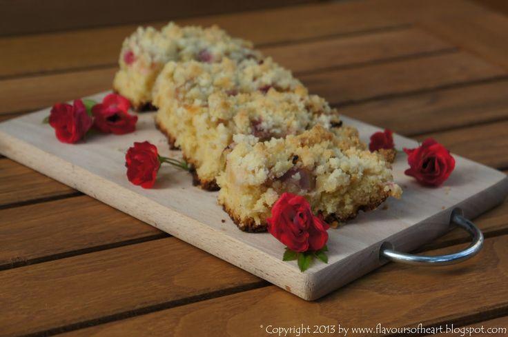 #yeast cake with #rhubarb