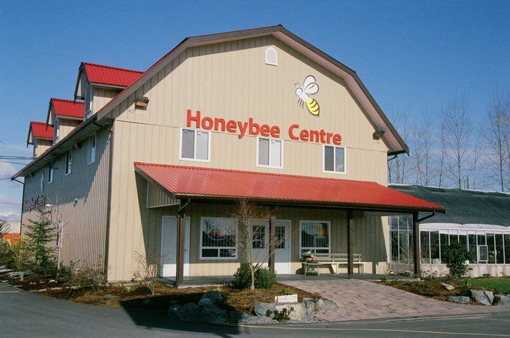 Visit the Honeybee Centre in Surrey, BC for all things honey and bee related. Check out the beekeeping demo and the new Beestro for tasty eats!