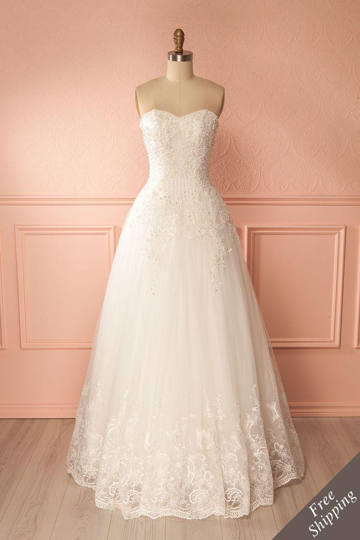 Champagne lace mermaid bridal gown - Robe de mariée coupe sirène en dentelle champagne