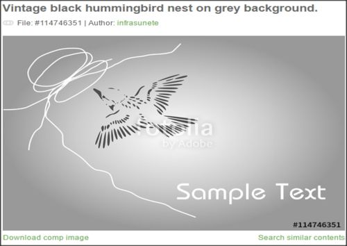 Today I have an hummingbird vector for you. It's an minimalistic, tattoo style work of art. I hope you like it, and u used it on your work.