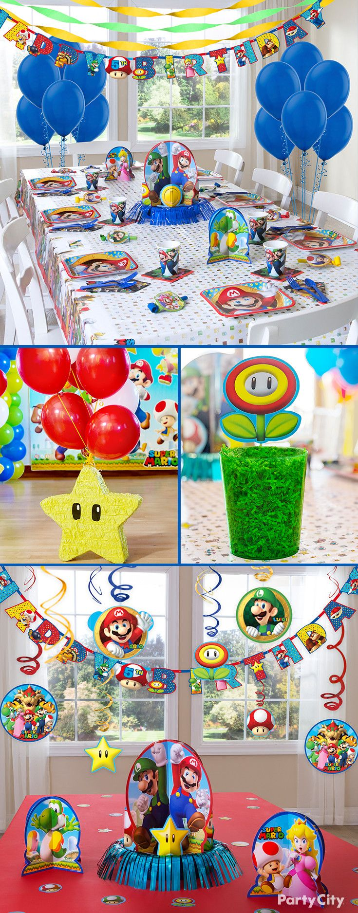 Let's-a go! One-up your party decorating with Party City's Super Mario birthday collection. Cups, plates, favors, balloons, banners—we've got enough party supplies to create Princess Peach's Castle!