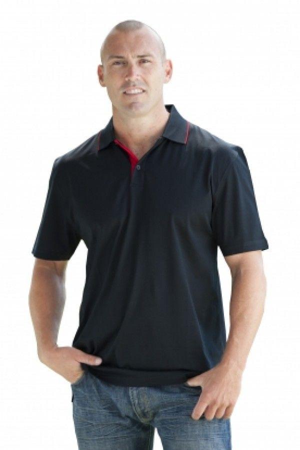 Platinum polo shirt (black/red) - Boostup