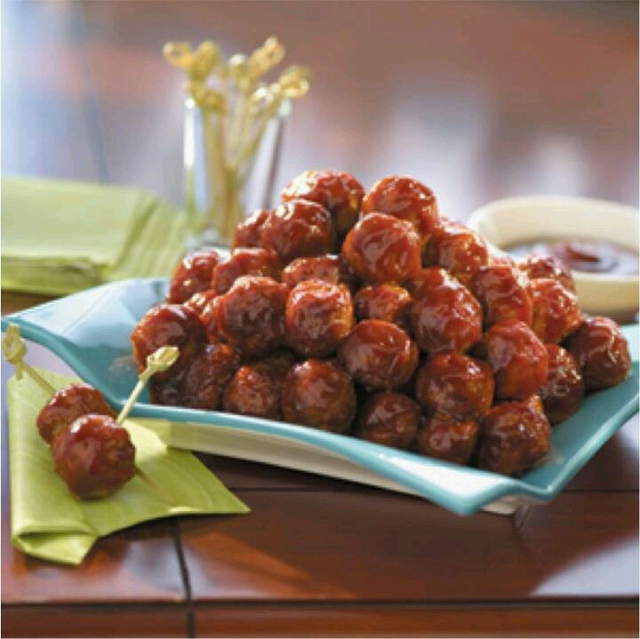 Franks hot sauce bbq meatballs | food/drink/sweets | Pinterest