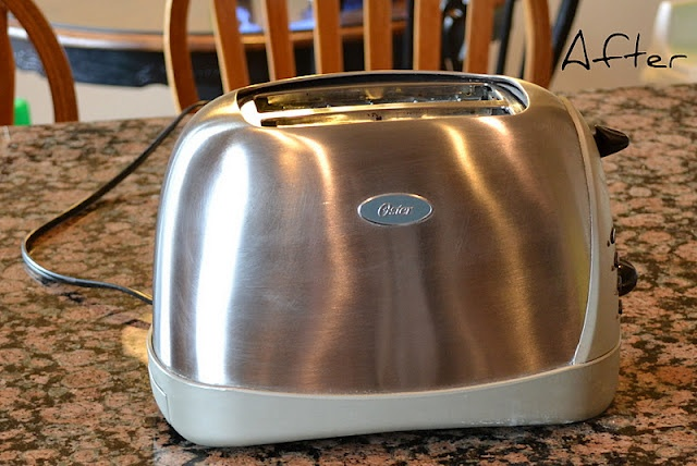 Clean stainless appliances with cream of tarter and water