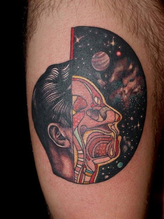 Surrealist tattoos portraits by Pietro Sedda - so many beautiful inks via Journal du Design