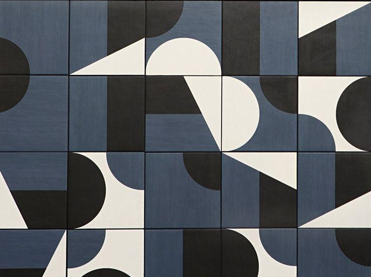 Pavimento/rivestimento in gres porcellanato smaltato PUZZLE Collezione Puzzle by MUTINA design Barber