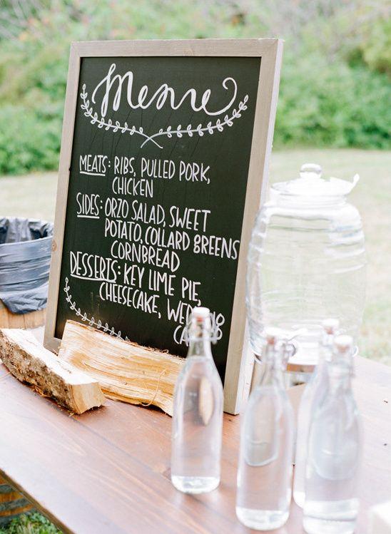menu sign @weddingchicks