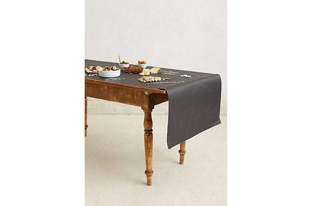 Chalkboard Table Runner For a cheese platter truly fit for royalty, you'll need all the surface area you can get. Anthropologie, $46.