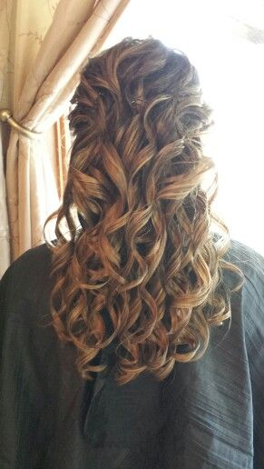 Wedding Hair. All.Curls. Half up-half down