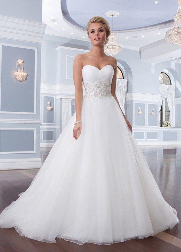 Sweetheart White Ivory Lace Wedding Dresses