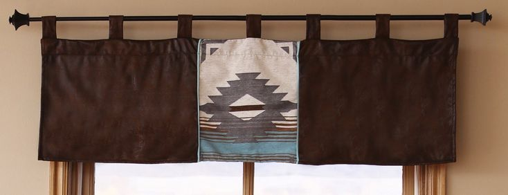 Window Valances - Blue Dakota Southwestern Valance
